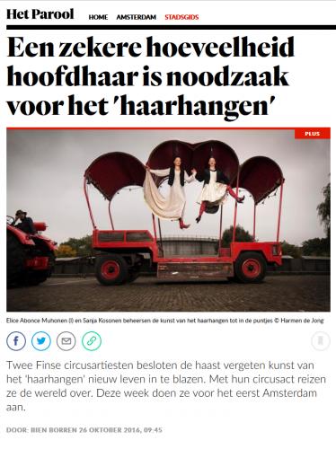 Capilotractées à Amsterdam : Het Parool